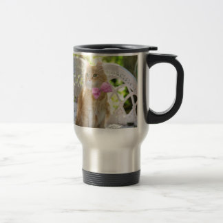 Cat Kitty Feline Summer Sunshine Pet Animal Cute Travel Mug
