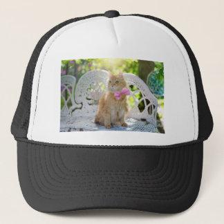 Cat Kitty Feline Summer Sunshine Pet Animal Cute Trucker Hat