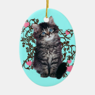 Cat Ladies Rejoice Cute Kitten Ceramic Ornament