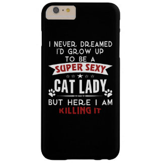 Cat lady barely there iPhone 6 plus case