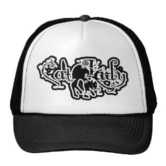 Cat Lady Black & White Trucker Hat