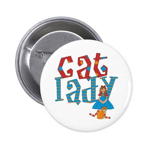 Cat Lady Button