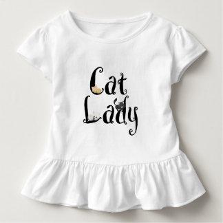 Cat Lady Girls Ruffle Shirt