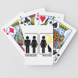 cat lady New Bicycle Playing Cards