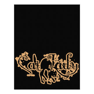 Cat Lady Orange Letterhead