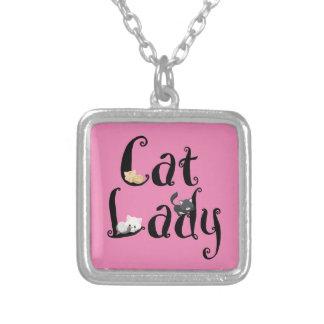 Cat Lady Pendant Necklace