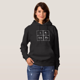 """""""Cat Lady"""" periodic table of elements nerdy hoodie"""