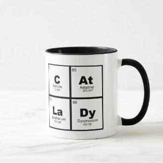 """Cat Lady"" periodic table of elements nerdy mug"