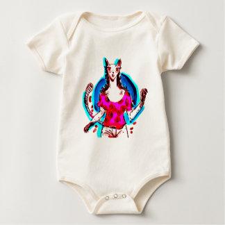 cat lady pop art baby bodysuit