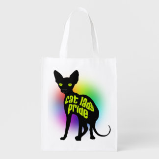 Cat Lady Pride Reusable Grocery Bag
