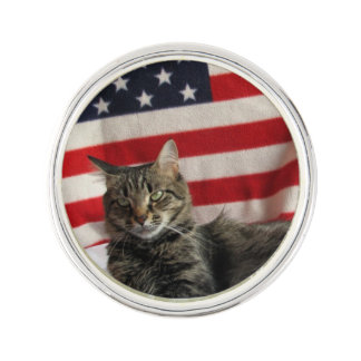 Cat Life - American Pride  Lapel Pin