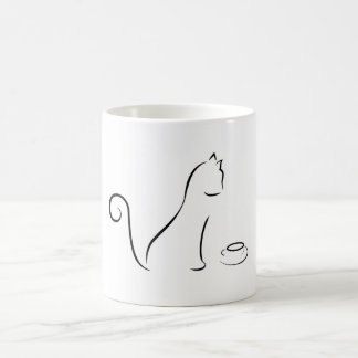 Cat Line Drawing With Cup