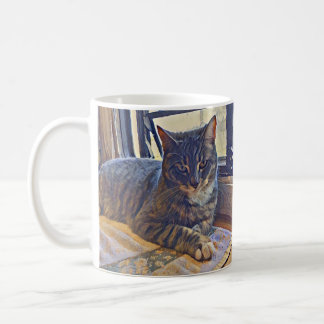 Cat Looking Out an RV Window Coffee Mug