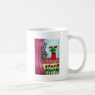 Cat Looking Out of Window Coffee Mug
