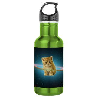 Cat lost in space 532 ml water bottle