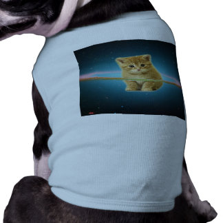 Cat lost in space dog shirt