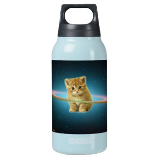 Cat lost in space insulated water bottle