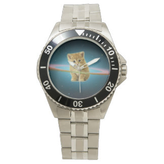 Cat lost in space watches