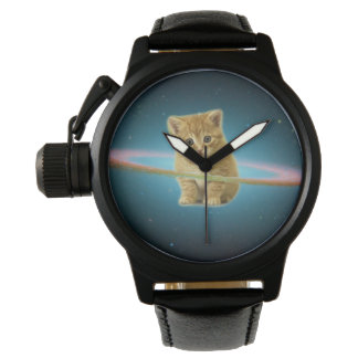 Cat lost in space wrist watch