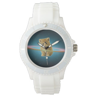 Cat lost in space wristwatch