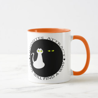 Cat Love Black White Cool Couple Flirting Stylish Mug