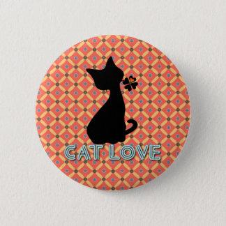 Cat Love Botton 2 Inch Round Button