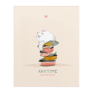 Cat love food acrylic print