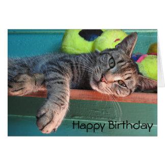 "Cat Love ""Happy Birthday"" Card"