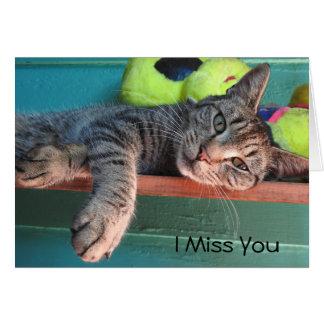 """Cat Love """"I Miss You"""" Card"""
