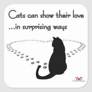 Cat Love-light Square Sticker