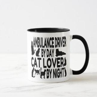 Cat Lover Ambulance Driver Mug