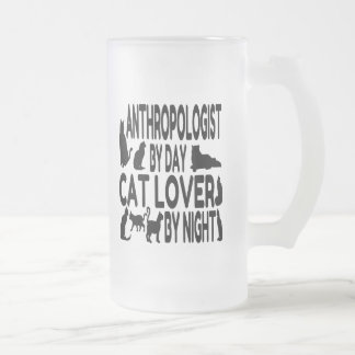 Cat Lover Anthropologist Frosted Glass Beer Mug