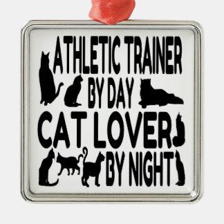 Cat Lover Athletic Trainer Metal Ornament