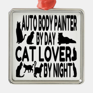Cat Lover Auto Body Painter Metal Ornament