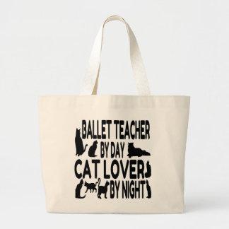Cat Lover Ballet Teacher Large Tote Bag