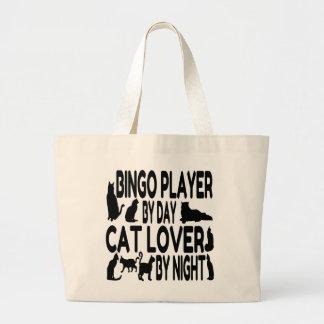 Cat Lover Bingo Player Large Tote Bag