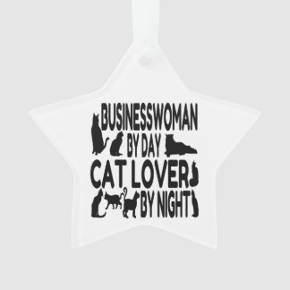 Cat Lover Businesswoman Ornament