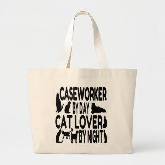 Cat Lover Caseworker Large Tote Bag