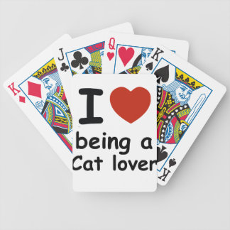cat lover design poker deck