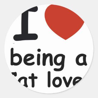 cat lover design round sticker