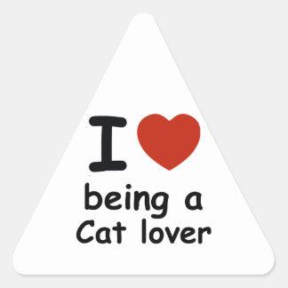 cat lover design triangle sticker
