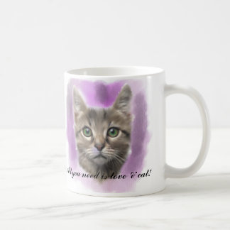 Cat lover digital art,All you need is love & cat! Coffee Mug