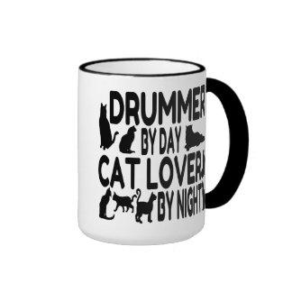 Cat Lover Drummer Ringer Coffee Mug