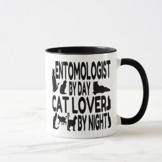 Cat Lover Entomologist Mug