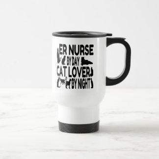 Cat Lover ER Nurse Travel Mug