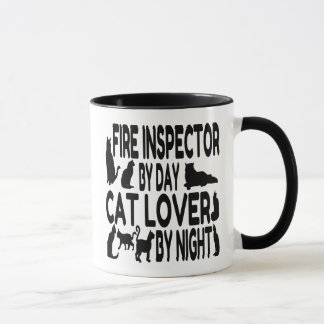Cat Lover Fire Inspector Mug