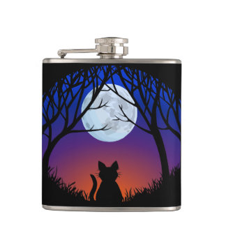 Cat Lover Flask Custom Fat Cat Drink Flasks & Gift