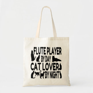 Cat Lover Flute Player Tote Bag