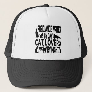 Cat Lover Freelance Writer Trucker Hat