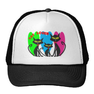Cat Lover Gifts---Unique Cats--Bright Colors Trucker Hat